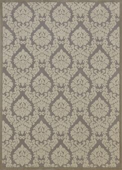 Weissport Silver & Ivory Area Rug Rug Size: Rectangle 2'6