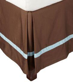 Parish Bed Skirt Color: Mocha / Sky Blue, Size: Twin