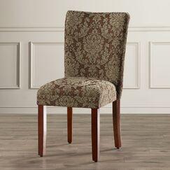 Hoadley Upholstered Damask Parsons Chair