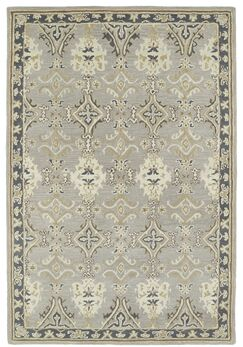 Curtiss Handmade Gray Area Rug Rug Size: Rectangle 2' x 3'