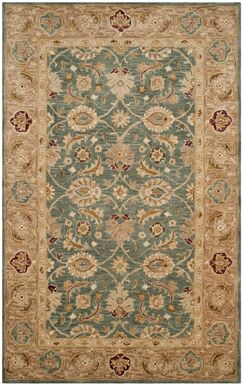 Ashville Hand-Tufted Green / Taupe Area Rug Rug Size: Rectangle 3' x 5'