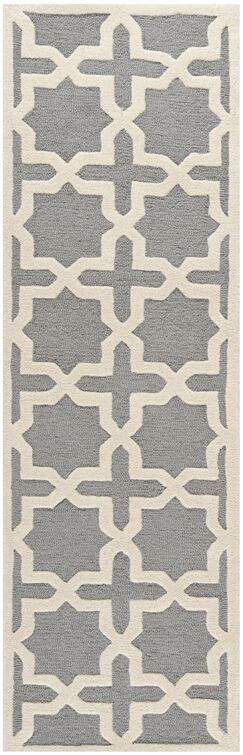 Mclawhorn Hand-Tufted Gray/Ivory Area Rug Rug Size: Runner 2'6