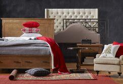 Crawley Upholstered Wingback Headboard Size: King, Upholstery: Gray