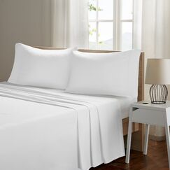 Ashbury Deep Pocket Sheet Set Size: Queen, Color: White