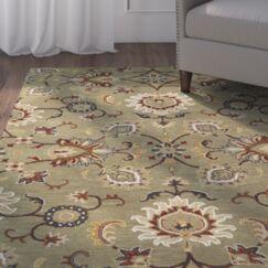 Lyndora Traditional Handmade Wool Area Rug Rug Size: Rectangle 5' x 7'9