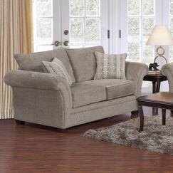 Serta Upholstery Belmont Loveseat Upholstery: Furby Pewter