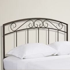 Wendell Open-Frame Headboard Color: Copper Pebble, Size: Queen