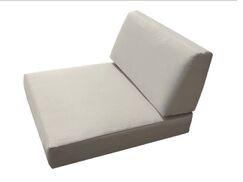 Sunbrella Armless Cushion Fabric: Flax