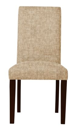 Beachwood Upholstered Parsons Chair Upholstery Color: Beige