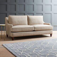 Hathaway Sofa Upholstery: Nobletex Platinum