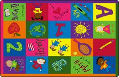 Primary Pictures Kids Rug Rug Size: 4' x 6'