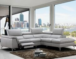 Dupont Leather Reclining Sectional Orientation: Right Hand Facing
