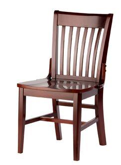 Henry Side Chair Kickplate Finish: Brass, Finish: Chestnut