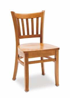Grill Side Chair Finish: Oak, Kickplate Finish: Chrome