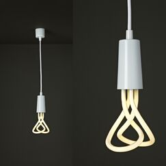 Plumen 1-Light Bulb Pendant Finish: White