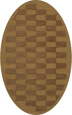 Dover Gold Dust Area Rug Rug Size: Oval 10' x 14'