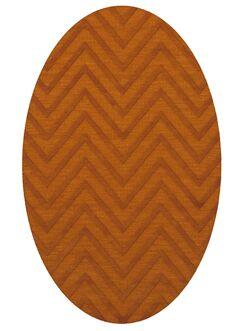 Dover Tufted Wool Orange Area Rug Rug Size: Oval 8' x 10'