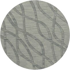 Dover Tufted Wool Sea Glass Area Rug Rug Size: Round 10'