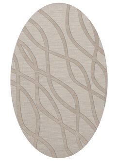 Dover Tufted Wool Putty Area Rug Rug Size: Oval 12' x 15'