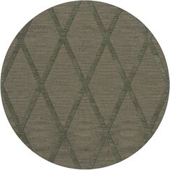 Dover Tufted Wool Aloe Area Rug Rug Size: Round 12'