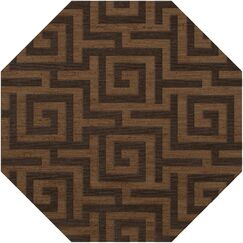Dover Tufted Wool Caramel Area Rug Rug Size: Octagon 12'