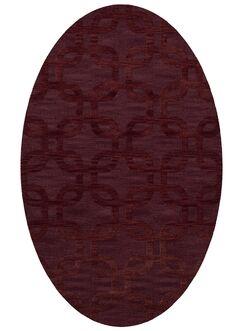 Dover Burgundy Area Rug Rug Size: Oval 12' x 18'