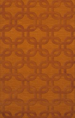 Dover Orange Area Rug Rug Size: Rectangle 4' x 6'