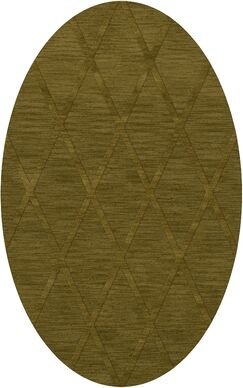 Dover Tufted Wool Avocado Area Rug Rug Size: Oval 5' x 8'