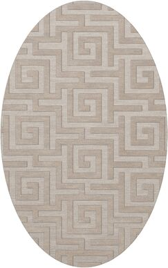 Dover Tufted Wool Putty Area Rug Rug Size: Oval 5' x 8'