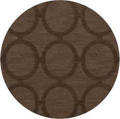 Dover Tufted Wool Mocha Area Rug Rug Size: Round 8'