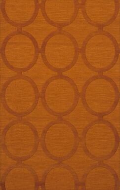 Dover Orange Area Rug Rug Size: Rectangle 3' x 5'