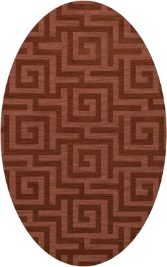 Dover Tufted Wool Coral Area Rug Rug Size: Oval 3' x 5'