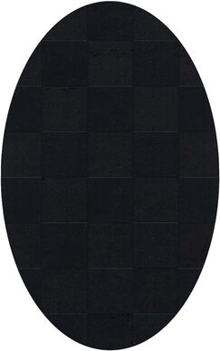 Dover Tufted Wool Black Area Rug Rug Size: Oval 10' x 14'