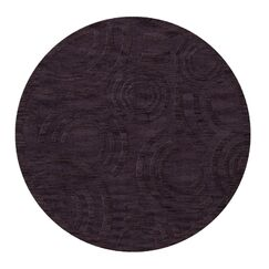 Dover Tufted Wool Grape Ice Area Rug Rug Size: Round 4'
