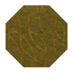 Dover Tufted Wool Avocado Area Rug Rug Size: Octagon 6'