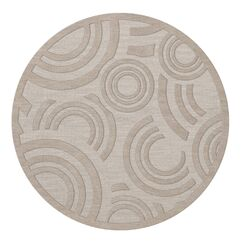 Dover Tufted Wool Putty Area Rug Rug Size: Round 6'