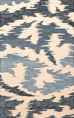 Bella Machine Woven Wool Black Area Rug Rug Size: Oval 8' x 10'