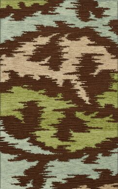 Bella Brown,Green,Gray Area Rug Rug Size: Octagon 12'