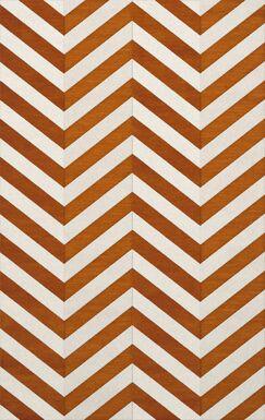 Shepler Wool Tangerine Area Rug Rug Size: Rectangle 4' x 6'