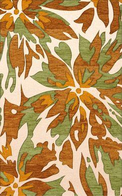 Bella Machine Woven Wool Beige/Brown Area Rug Rug Size: Oval 8' x 10'