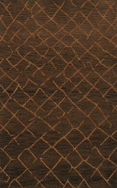 Bella Machine Woven Wool Brown Area Rug Rug Size: Rectangle 9' x 12'