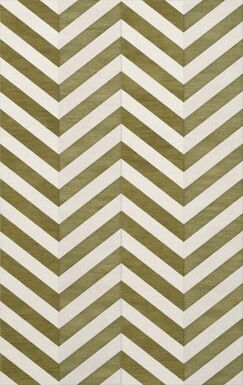 Shellenbarger Wool Herb/White Area Rug Rug Size: Rectangle 3' x 5'