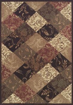 Arends Brown / Beige Checked Area Rug Rug Size: Rectangle 5'3