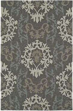 Cabana Hand-Tufted Graphite Indoor/Outdoor Area Rug Rug Size: Rectangle 5' x 7'6