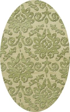 Bella Green Area Rug Rug Size: Oval 3' x 5'