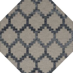 Bella Machine Woven Wool Gray Area Rug Rug Size: Octagon 4'
