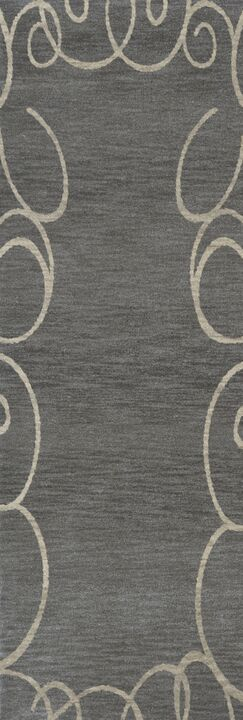 Bella Gray Area Rug Rug Size: Runner 2'6