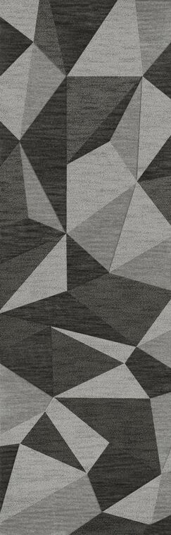 Bella Machine Woven Wool Gray Area Rug Rug Size: Runner 2'6