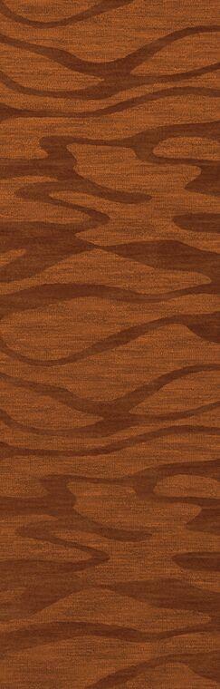 Bella Rust/Orange Area Rug Rug Size: Runner 2'6