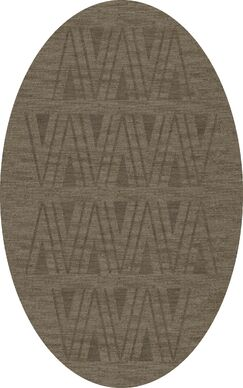 Bella Machine Woven Wool Gray Area Rug Rug Size: Oval 5' x 8'